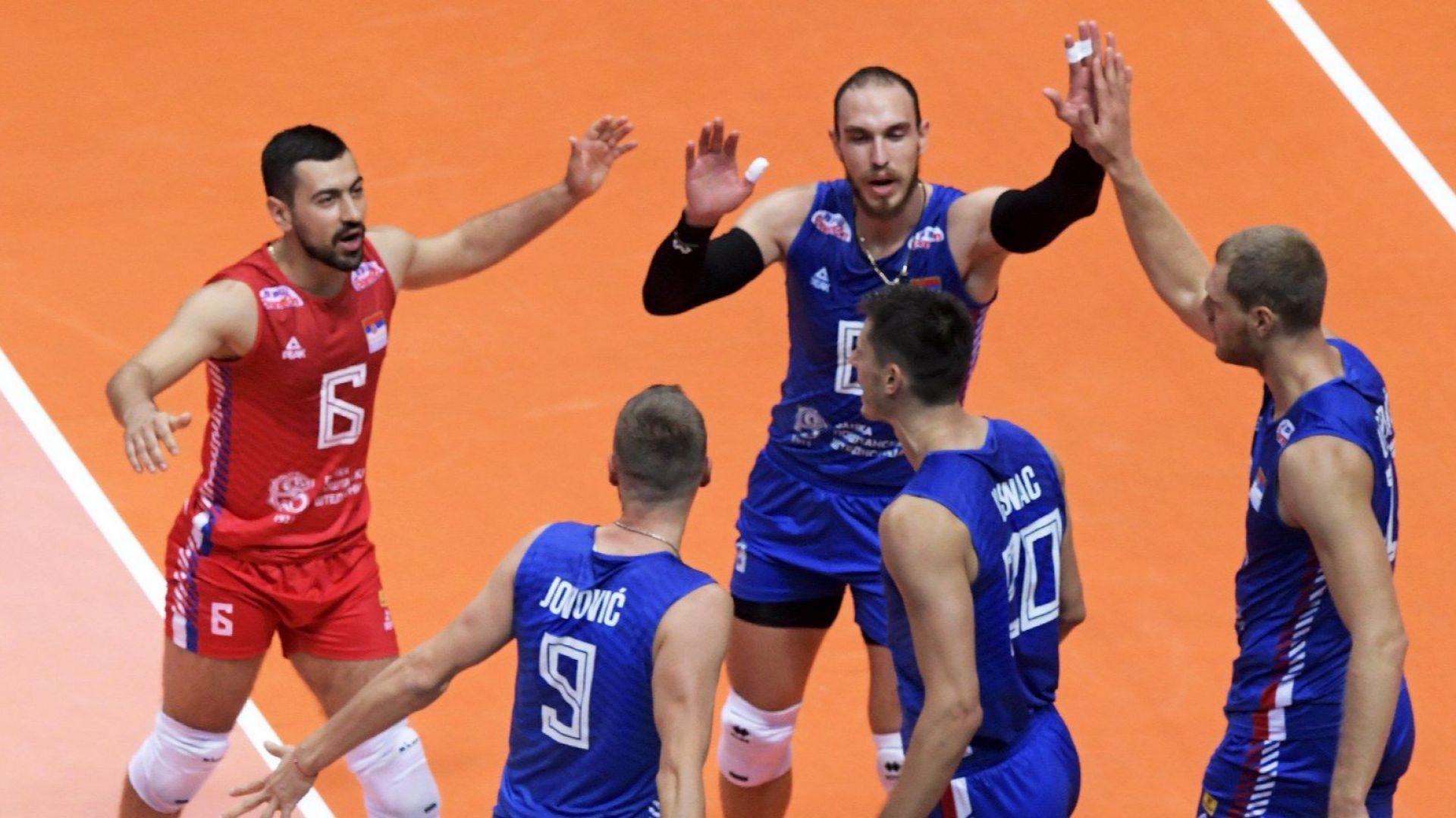 Актуалният шампион Сърбия стартира победоносно на Евроволей (резултати)