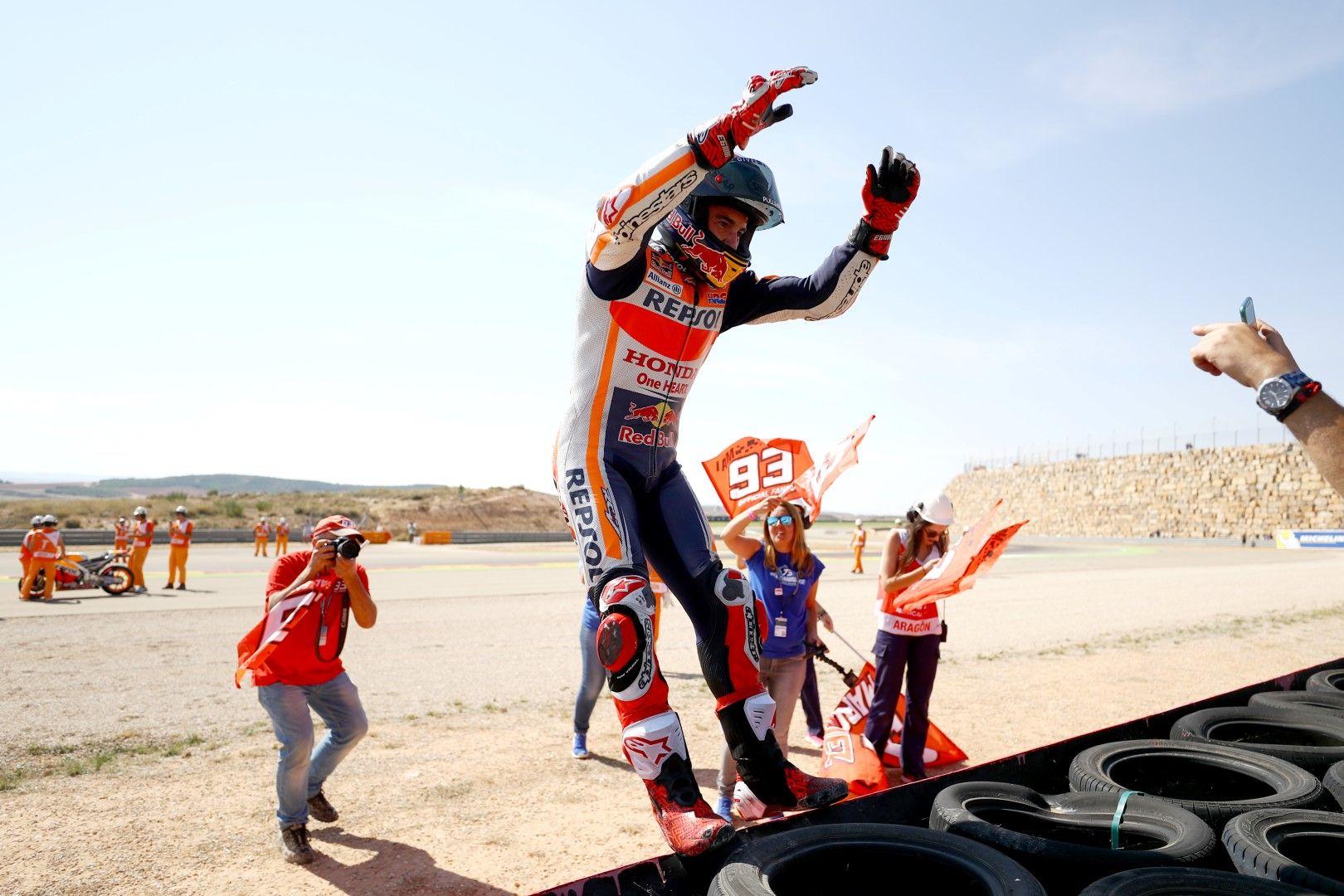 Марк Маркес след поредния триумф в Арагон - той има 5 победи там в 11 старта общо