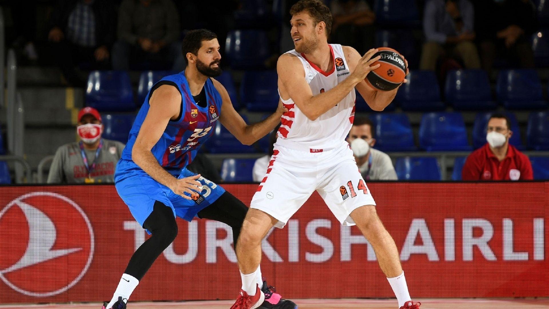 Олимпиакос и Везенков не успяха срещу Барселона в драма с продължение